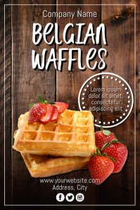 Template waffles Poster