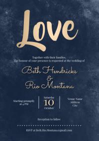 Template wedding invitation w