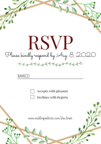 Template wedding rsvp