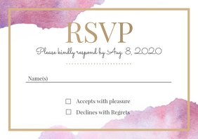 Template wedding rsvp watercolour