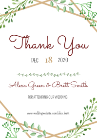 Template wedding thank you