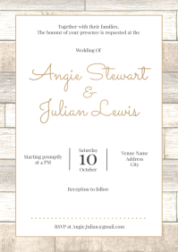 Template wedding wood rustic