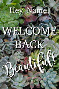 Template welcome back Poster