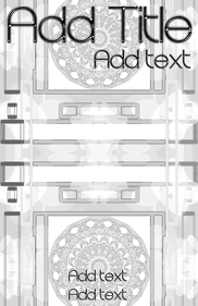 Template white and black