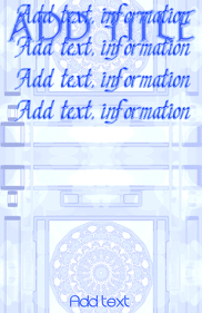 template white and blue lacelike