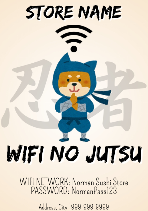 Template wifi password
