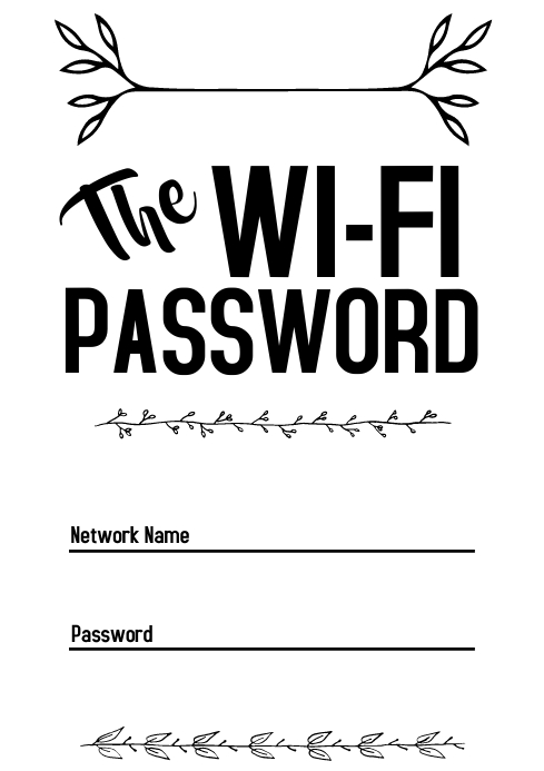 Template wifi password