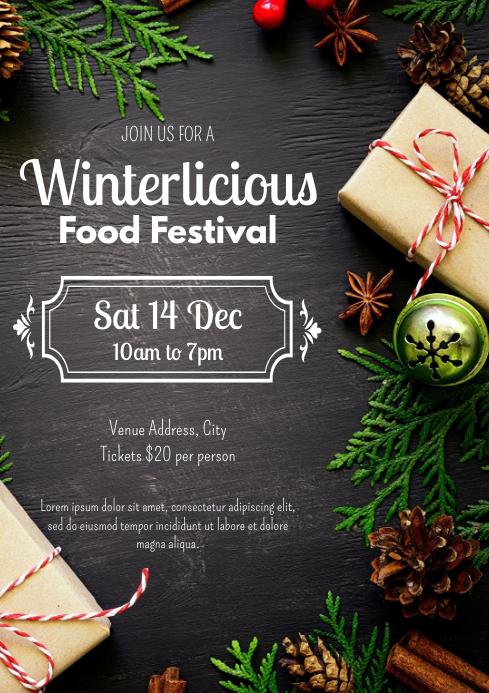 Template winter food festival