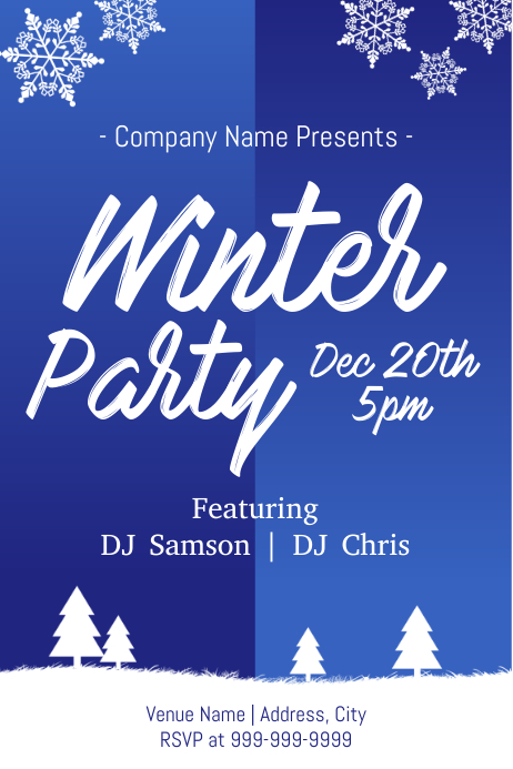 Template winter party