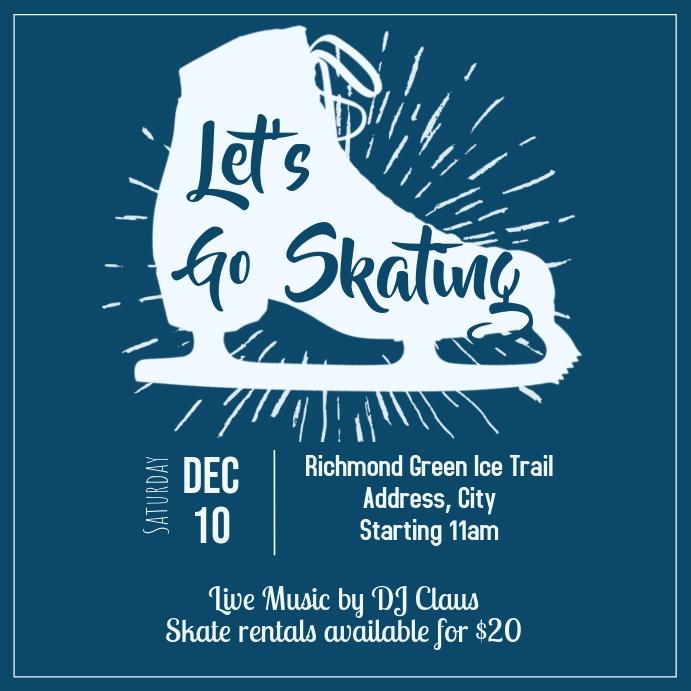 Template winter skating Instagram Post