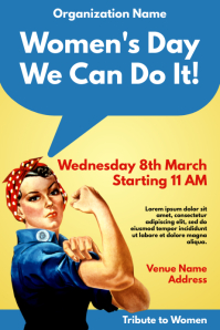 Template women's day Poster