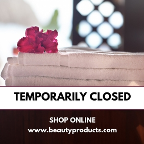 Temporarily Closed Beauty Shop Store Massage