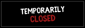 Temporarily Closed Corona Prevention banner