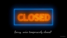 Temporarily Closed Corona Prevention Covid19
