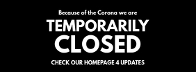 Temporarily Closed Corona Prevention Helpeach Foto Sampul Facebook template