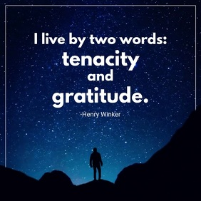 Tenacity Gratitude Motivational Video Carré (1:1) template