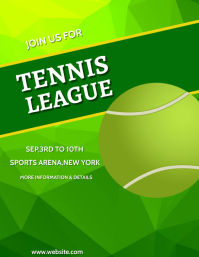 Tennis,sports,event Flyer (US Letter) template