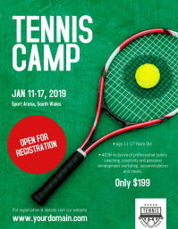 Tennis Camp Coaching Camp Flyer Poster