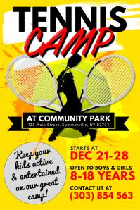 Tennis Camp Poster template