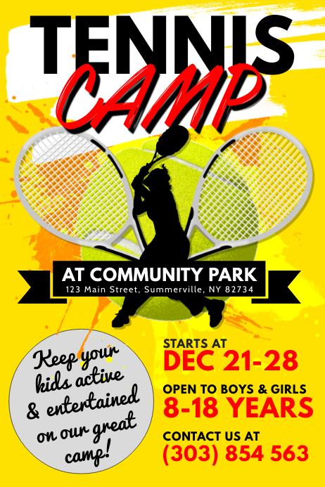 Tennis Camp Poster