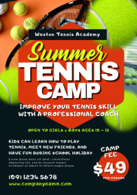 Tennis Camp Flyer Template