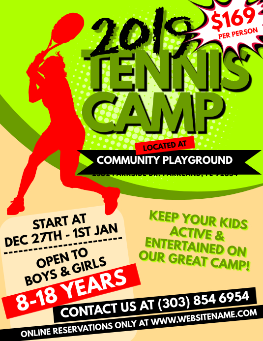 Tennis Camp Flyer Template  Postermywall