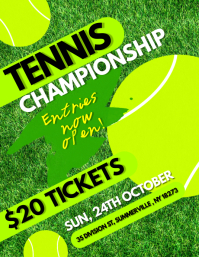 Tennis Championship Flyer