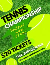 Tennis Championship Flyer template