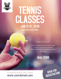 Tennis Classes Coaching Camp Flyer Poster