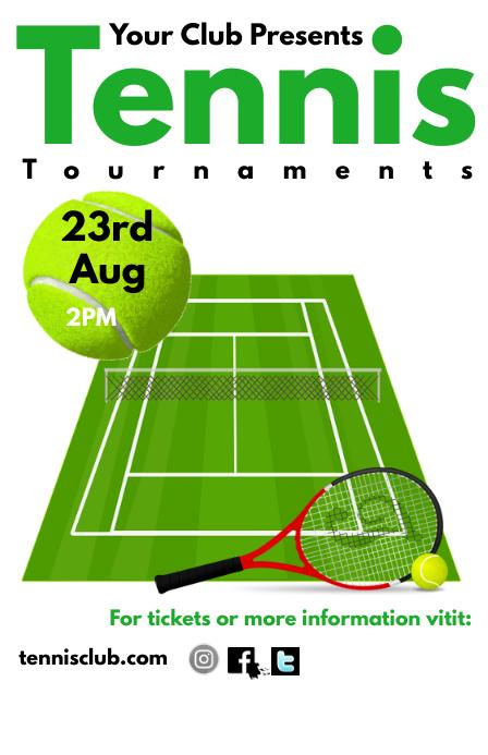 Tennis Tabloid template