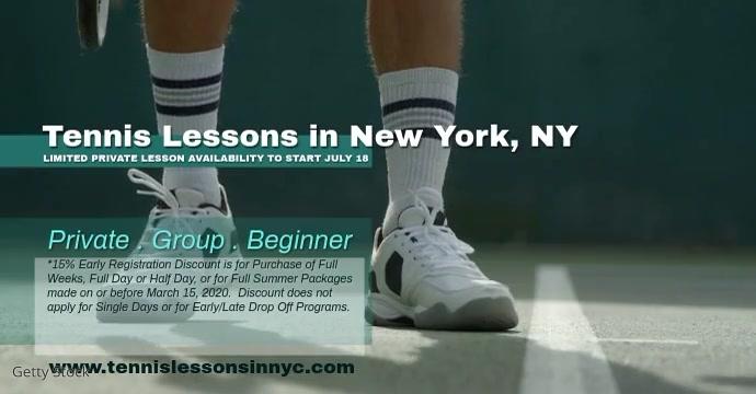tennis Рекламное объявление Facebook template