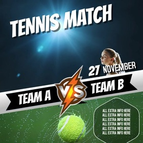 TENNIS EVENT AD VIDEO TEMPLATE
