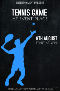 Tennis game event flyer