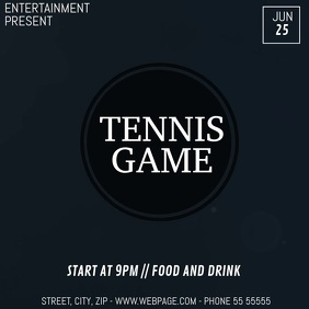 Tennis game video flyer template