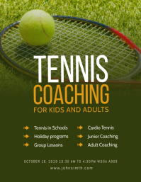Tennis Lessons Flyer template