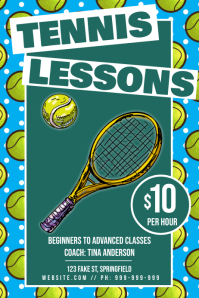 Tennis Lessons Poster