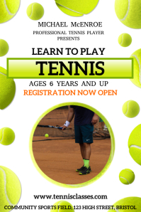 Tennis Lessons Poster Template