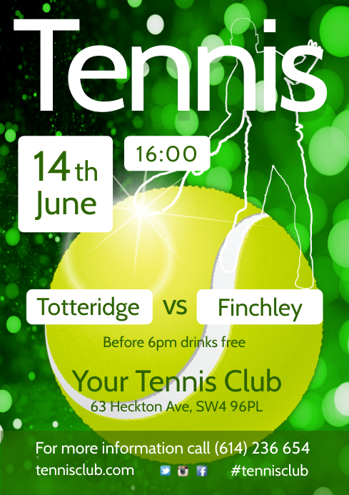 Tennis Match Flyer