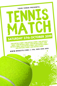 Tennis Match Poster template