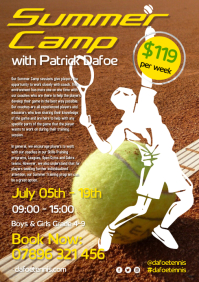 Tennis Summer Camp Flyer