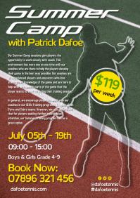Tennis Summer Camp Flyer A4 template