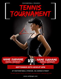 Tennis Tournament Flyer Design Template
