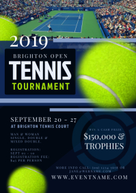 Tennis Tournament Flyer Template