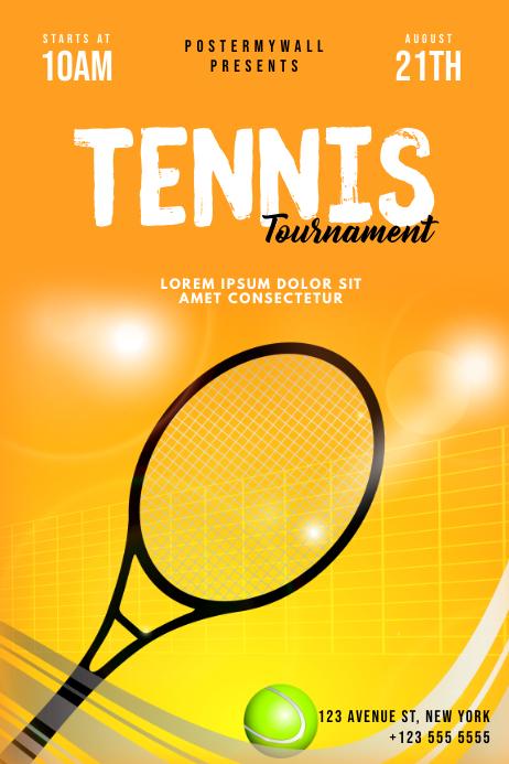 Tennis Tournament Flyer Template