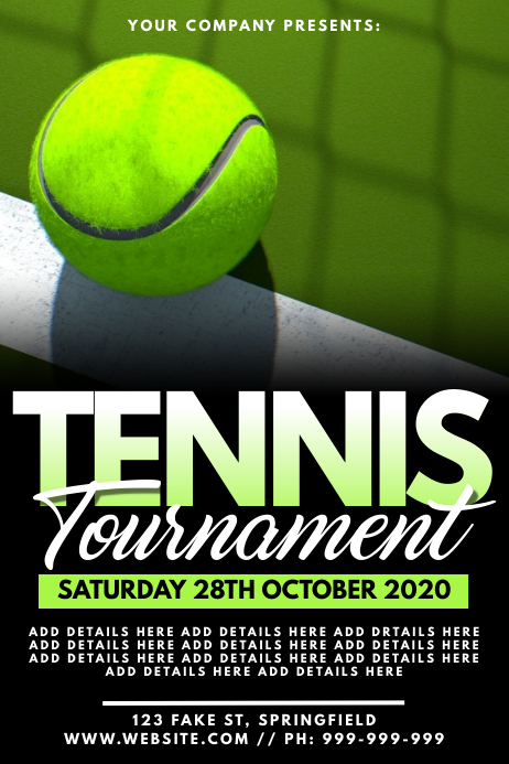 Tennis Tournament Poster 海报 template
