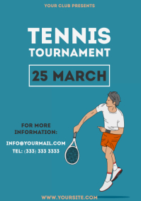 Tennis Tournament simple colorful flyer 2