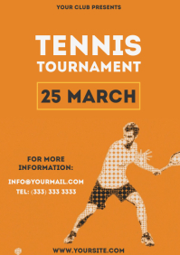 Tennis Tournament simple colorful flyer