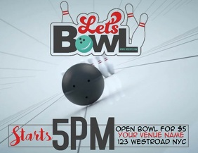 TENPIN BOWLING FLYER TEMPLATE VIDEO
