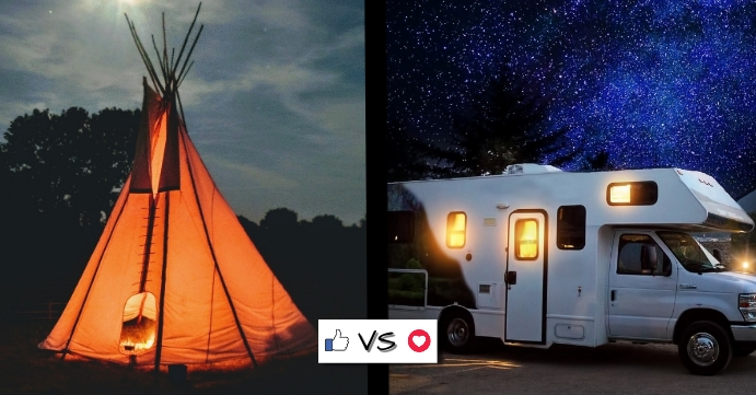 Tent vs RV Facebook Event Cover template