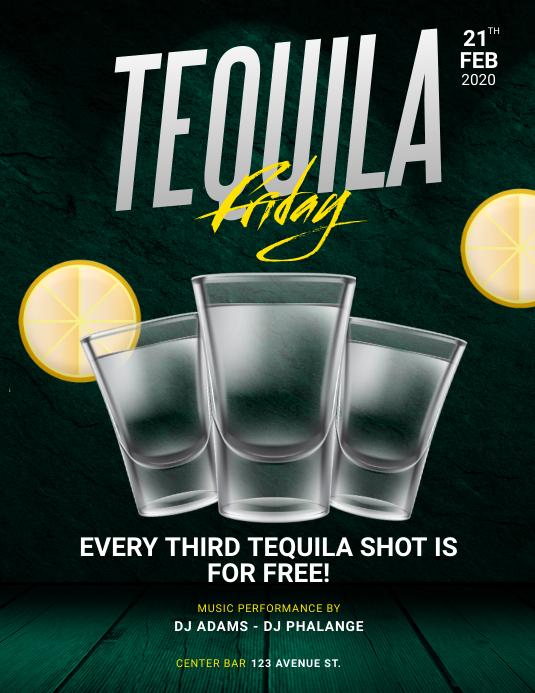 Tequila party Free Flyer Template